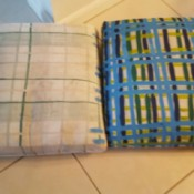 Colorful New Look for Faded Patio Pillows - before and after