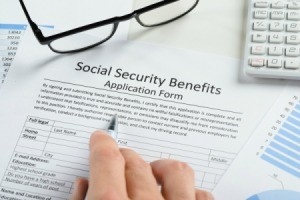A social security benefits document.