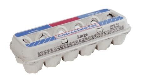 One carton of eggs.