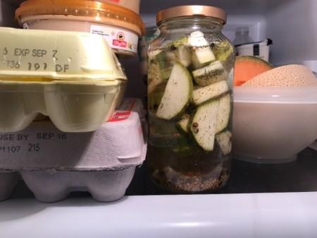 pickles in fridge