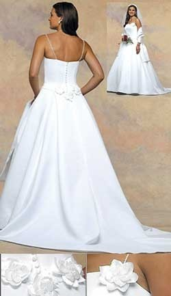 Wrinkled Wedding Dress