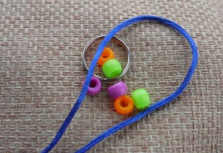 Beaded Key Ring - supplies
