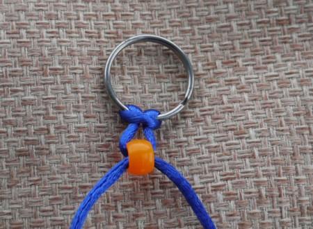Beaded Key Ring - pull tight