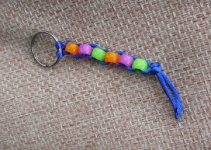 Beaded Key Ring - done
