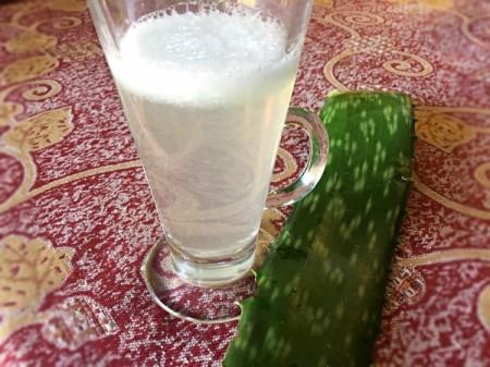 Aloe Vera Juice in glass
