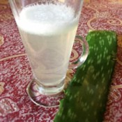 Aloe Vera Juice in glass