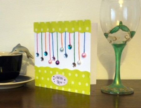 Hanging Baubles Greetings Card - all done