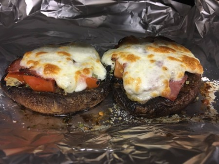 baked Portobello Mushroom Pizza