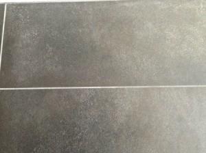 Cleaning Talcum Powder Off Dark Bathroom Tiles