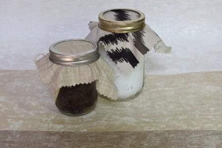 Using Mason jars for storing dry goods.