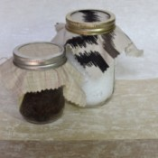 Using Mason jars for storing dry goods.