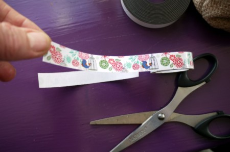 Magnetic Bookmarks - if using tape, stick back to back or to both sides of paper and trim