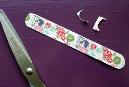 Magnetic Bookmarks - round off ends if desired
