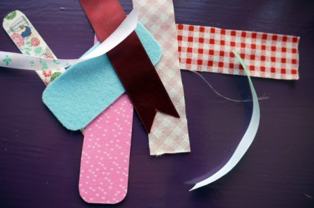 Magnetic Bookmarks - cut scraps into long rectangles