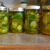filled pickle jars with lids