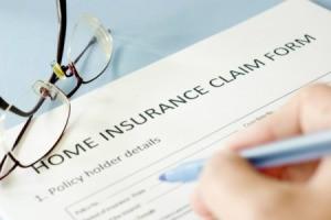 An insurance claim form.
