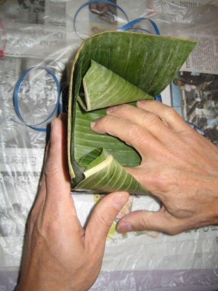 closing banana leaf
