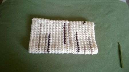 """Crocheted """"Timber"""" Neck Pillow Pattern - finished tube"""