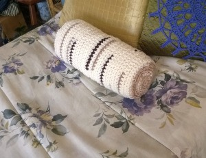 "Crocheted ""Timber"" Neck Pillow Pattern"