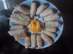Fish Sticks in Mozzarella Blankets