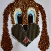 Kids' Artwork - Sweet Puppy Mosaic  - completed mosaic of dog with long floppy ears