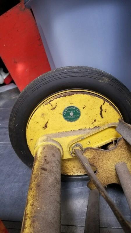 Value of Clemson Bros. Reel Mower - inside of the wheel