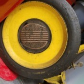 Value of Clemson Bros. Reel Mower - name emblem on wheel