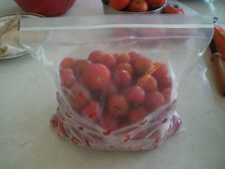 Frozen Small Tomatoes in bag