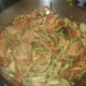 Chicken Zoodle-Do finished in pan