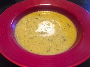 Broccoli Lemon Mint Soup