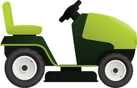 Riding mower illustration.