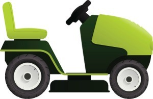 Riding mower illustration.