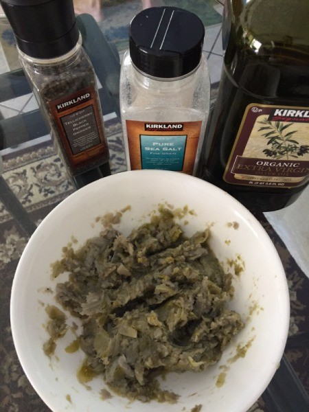 Artichoke spread ingredients