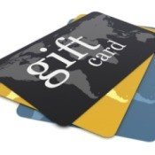 A stack of gift cards.