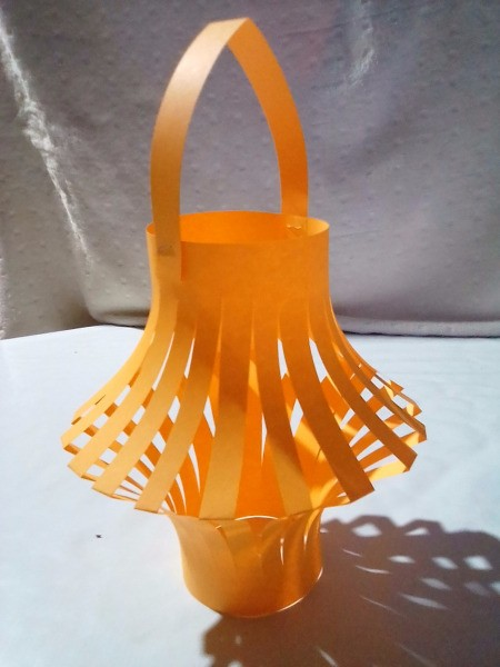 Making a Paper Lantern - finished lantern