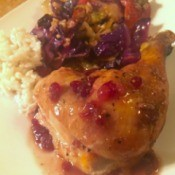 Jammy Roast Chicken on plate