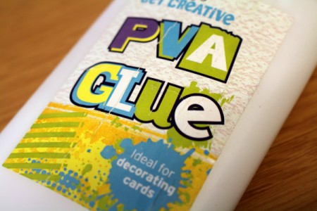 Glue to use in Dad bookmark project.