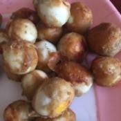 Crispy Quail Eggs on plate