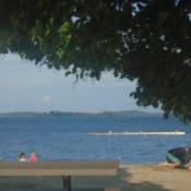 A view of a Joel Stone Beach in the summer.