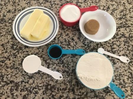 Cake Cookie ingredients