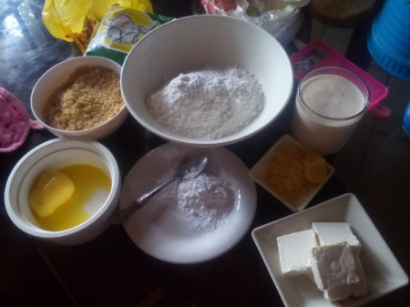 Cream Cheese Sweetheart Cake -  Ingredients