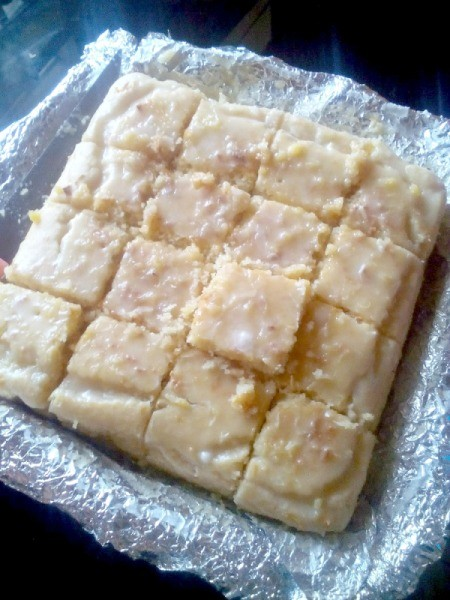 Cream Cheese Sweetheart Cake - Finished Cake