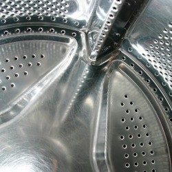 The inside of a washing machine.