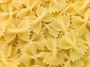 Farfalle pasta.