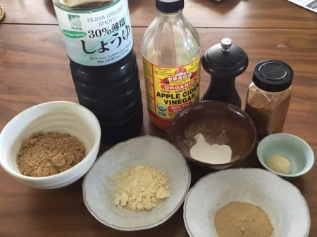 Vegan Worcestershire Sauce ingredients