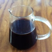 a finished cup of Vegan Worcestershire Sauce
