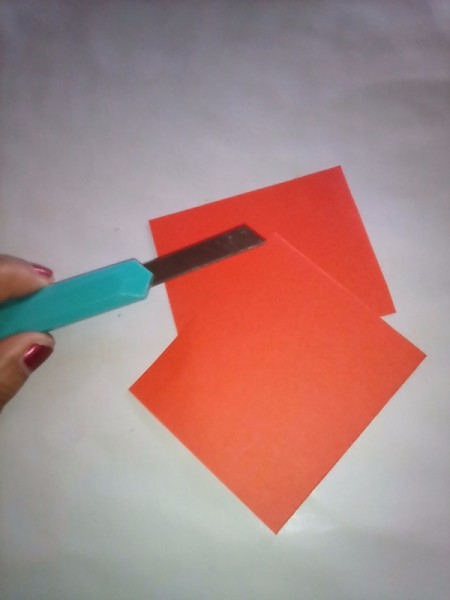 Simple Flowers with Paper Vase - paper cut for the vase