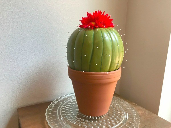 Making A Foam Pumpkin Faux Cactus Thriftyfun