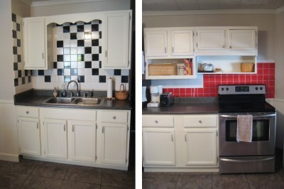 Paint Color Advice For Kitchen With Red Tiles And Dark Faux Granite Countertops Thriftyfun