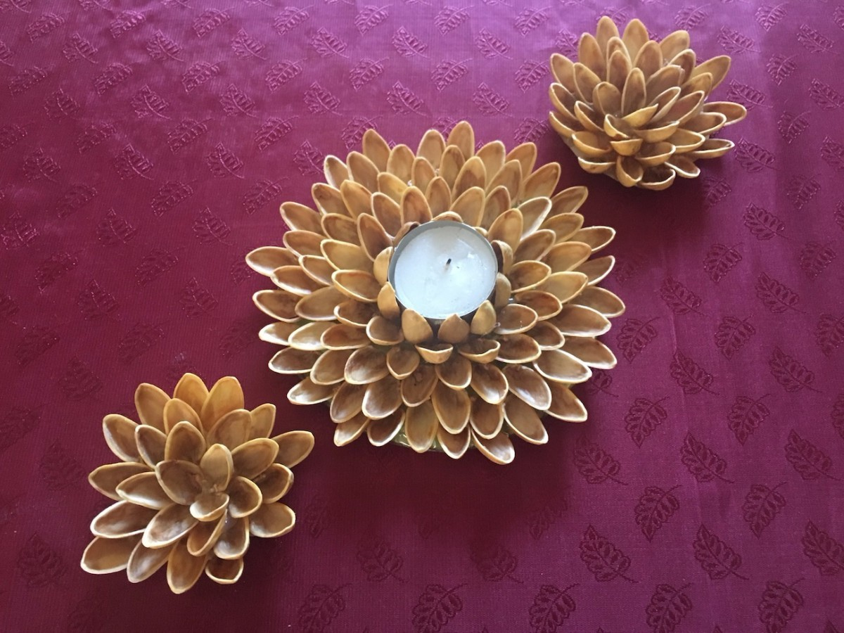How To Make Pistachio Shell Flowers And
